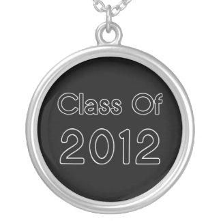 Black on Chrome Class of 2012 Graduation Necklace