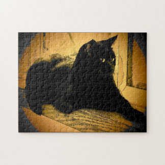 Black on Orange Jigsaw Puzzle