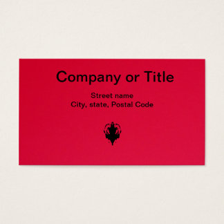 Black On Red Business Card
