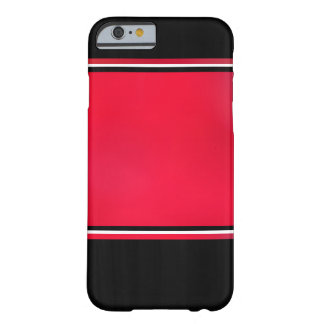 Black on Red Barely There iPhone 6 Case