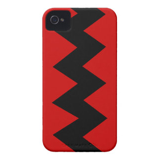 Black on Red Zig Zag iPhone 4/4S ID Case iPhone 4 Case-Mate Cases