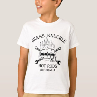 Black on White Brass Knuckle T-Shirts