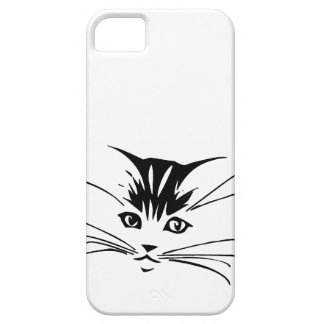 Black on White Cat Outline iPhone 5 Case