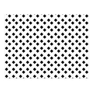 Black on White Diamond Design Postcard