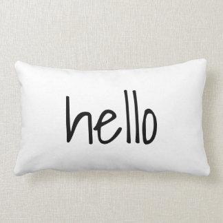 Black on White Hello Goodbye Reversible Lumbar Cushion