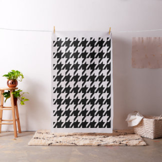 Black On White Houndstooth Seamless Pattern Fabric