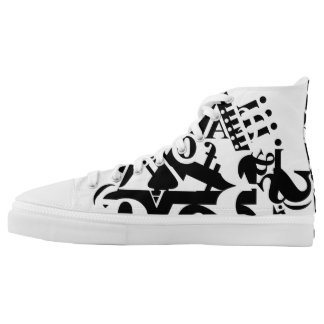 black on white on black 1 printed shoes