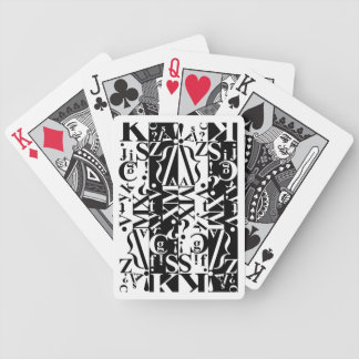 black on white on black deck 1 bicycle playing cards
