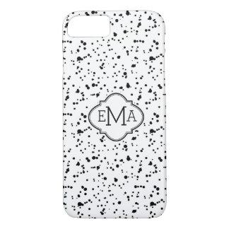 Black On White Splatter Pattern G2 iPhone 7 Case