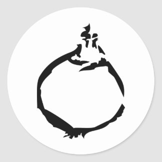 black onion icon classic round sticker