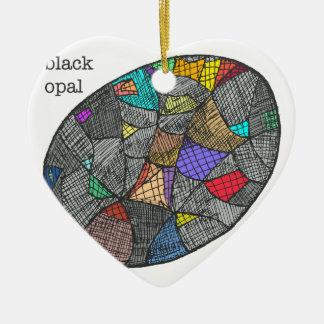 Black Opal Ceramic Ornament