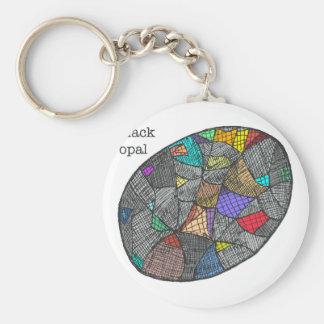 Black Opal Key Ring