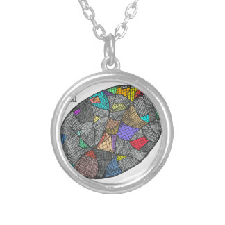 Black Opal Silver Plated Necklace