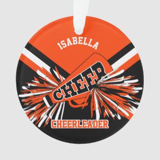 Black, Orange and White Cheerleader Ornament