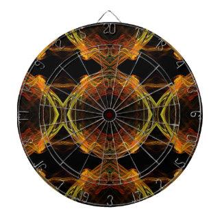 Black, Orange and Yellow Fractal Dart Board
