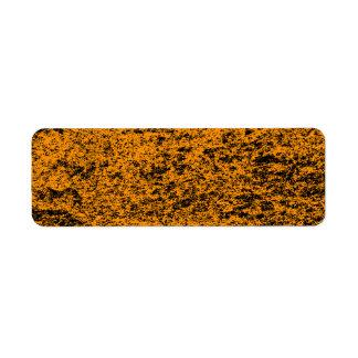 Black & Orange Marble Return Address Sticker Return Address Label