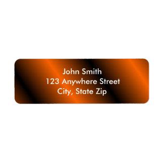Black/Orange Return Address Labels