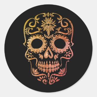 Black/Orange Sugar Skull/Day of the Dead Stickers