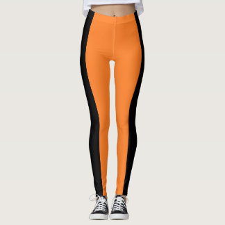 Black & Orange Two Tone Leggings