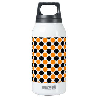 Black Orange White Polka Dots 0.3L Insulated SIGG Thermos Water Bottle