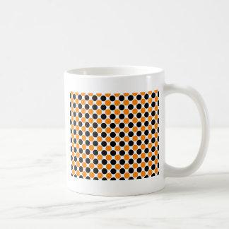 Black Orange White Polka Dots Mugs