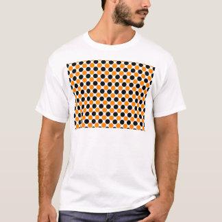 Black Orange White Polka Dots T-Shirt