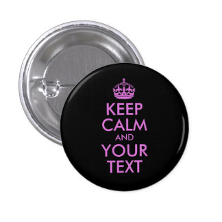 Black Orchid Keep Calm and Your Text 3 Cm Round Badge