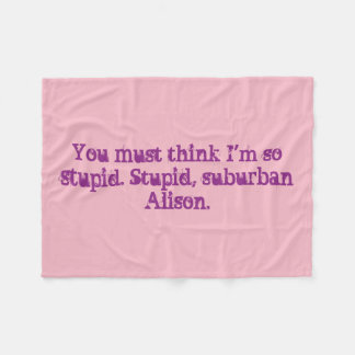 Black Orphan Alison Quote Blanket