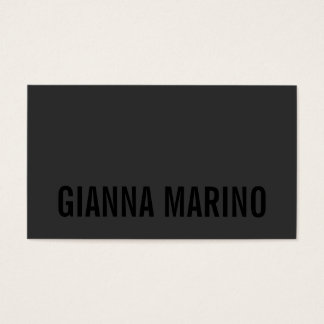 BLACK OUT BUSINESS CARD