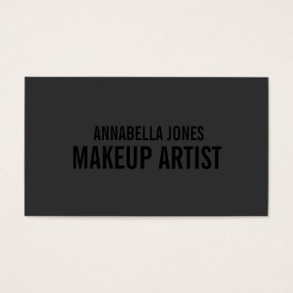 Black Out Makeup Artist | Business Cards