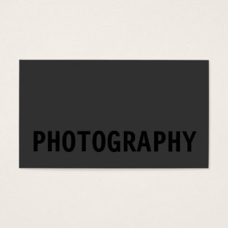 Black Out Photographer Business Card