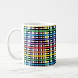 Black Outlined Rainbow Weave Coffee Mug