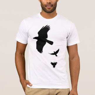Black outlines of Crows T-Shirt