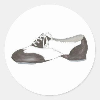 Black Oxford Tap Shoe Dance Teacher Shoes Sticker