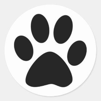 Black Pad Cat Classic Round Sticker