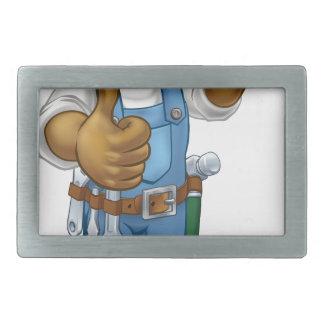 Black Painter Decorator Cartoon Character Belt Buckle