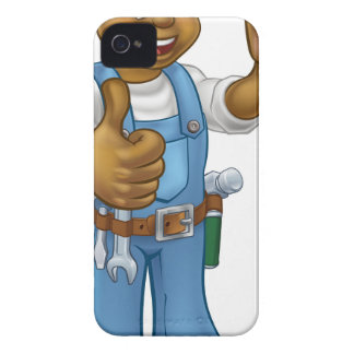 Black Painter Decorator Cartoon Character iPhone 4 Case-Mate Case