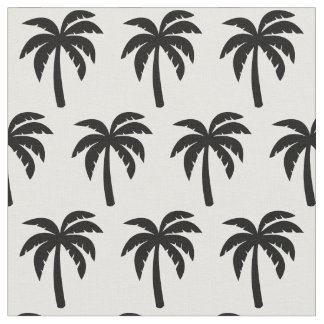 Black Palm Tree Fabric