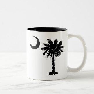 Black Palmetto Two-Tone Coffee Mug