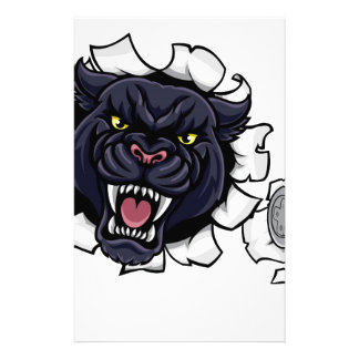 Black Panther Angry Esports Mascot Stationery