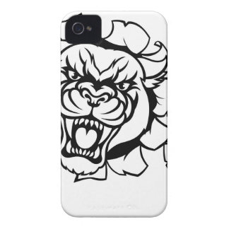 Black Panther Angry Gamer Esports Mascot iPhone 4 Case-Mate Case