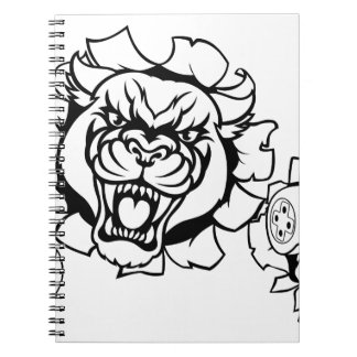 Black Panther Angry Gamer Esports Mascot Spiral Notebook