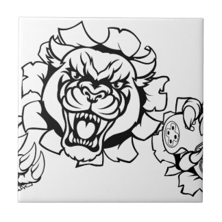 Black Panther Angry Gamer Esports Mascot Tile