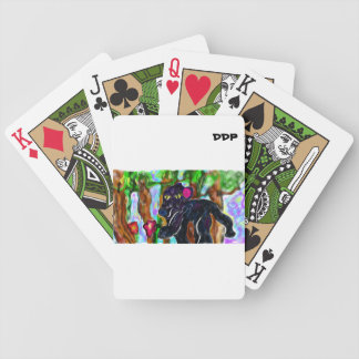 black panther beautiful jungle bicycle playing cards
