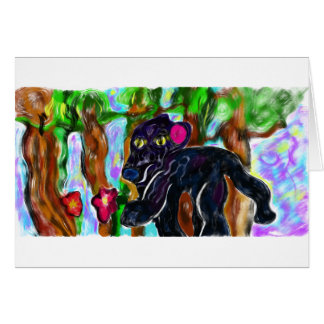 black panther beautiful jungle card