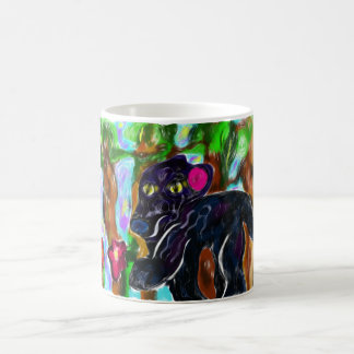 black panther beautiful jungle magic mug