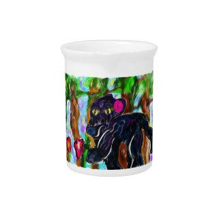 black panther beautiful jungle pitcher