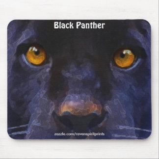 Black Panther (Black Jaguar) Face Art Mousepad