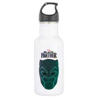 Black Panther | Black Panther Etched Mask 532 Ml Water Bottle