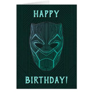 Black Panther   Black Panther Etched Mask Card